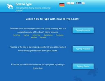 how-to-type.com screenshot