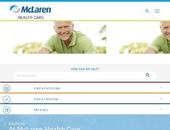 Main page screenshot of mclaren.org