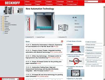 beckhoff.com screenshot