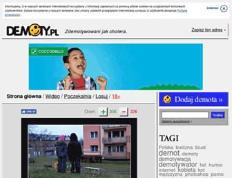 Main page screenshot of demoty.pl