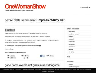 Main page screenshot of onewomanshow.noblogs.org