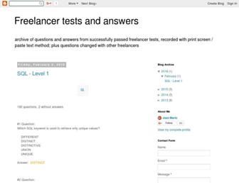 freelancer-answers.blogspot.com screenshot
