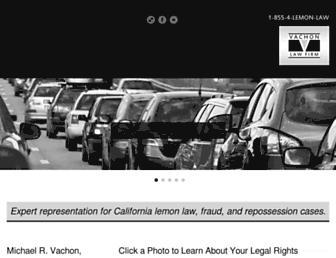 thelemonlawcalifornia.com screenshot