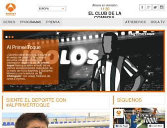 antena3internacional.com screenshot