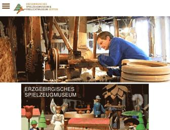 Main page screenshot of spielzeugmuseum-seiffen.de