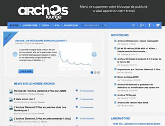 Main page screenshot of archoslounge.net