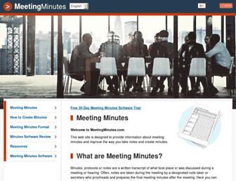 meetingminutes.com screenshot