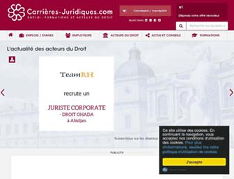carrieres-juridiques.com screenshot