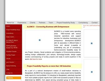 Main page screenshot of alemco.net