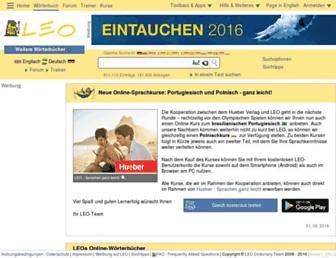 dict.leo.org screenshot