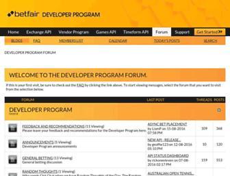 forum.bdp.betfair.com screenshot