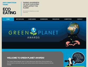 greenplanetawards.org screenshot