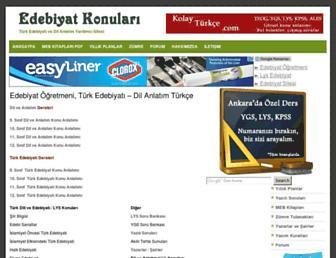 edebiyatkonulari.com screenshot