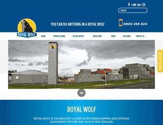 royalwolf.co.nz screenshot