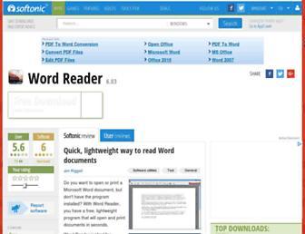 word-reader.en.softonic.com screenshot