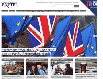 Thumbshot of Exeter.ac.uk