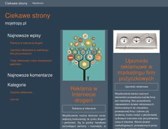 Main page screenshot of mojetropy.pl