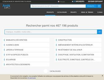 archiexpo.fr screenshot