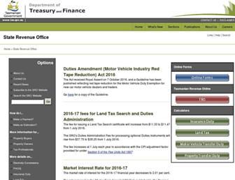 sro.tas.gov.au screenshot