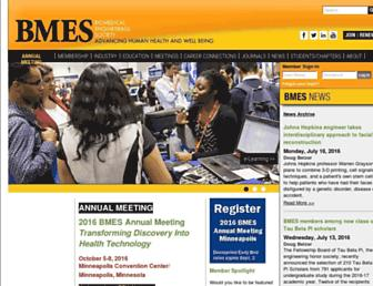 Main page screenshot of bmes.org