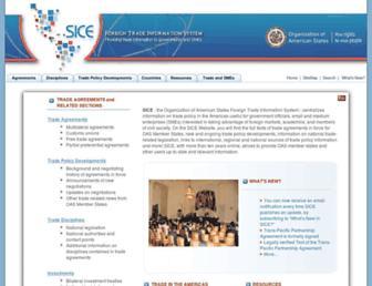 sice.oas.org screenshot