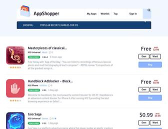 Thumbshot of Appshopper.com