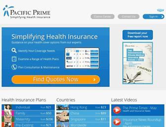 pacificprime.com screenshot