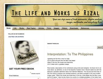 thelifeandworksofrizal.blogspot.com screenshot