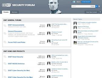 forum.eset.com screenshot