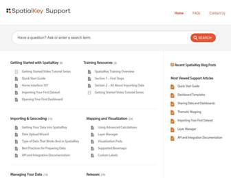 support.spatialkey.com screenshot