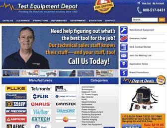 testequipmentdepot.com screenshot