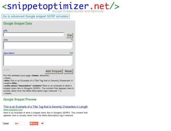Thumbshot of Snippetoptimizer.net