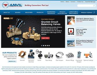 anvilintl.com screenshot