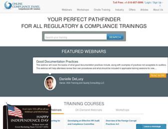 Thumbshot of Onlinecompliancepanel.com