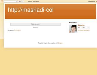 masriadi-coll.blogspot.com screenshot