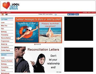 1001loveletters.com screenshot