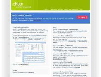 ehour.nl screenshot