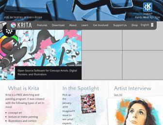 Thumbshot of Krita.org