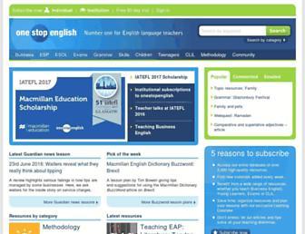 onestopenglish.com screenshot