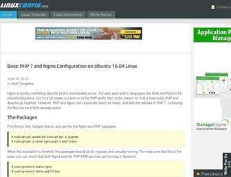linuxconfig.org screenshot