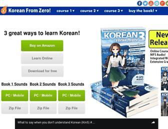 koreanfromzero.com screenshot