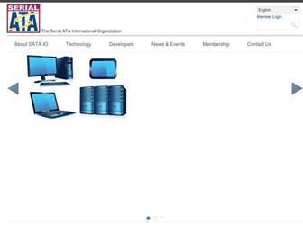 Main page screenshot of sata-io.org