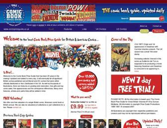comicpriceguide.co.uk screenshot