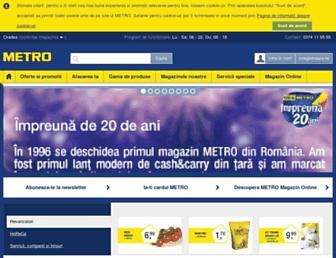 Main page screenshot of metro.ro