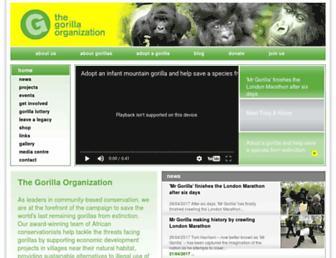 gorillas.org screenshot
