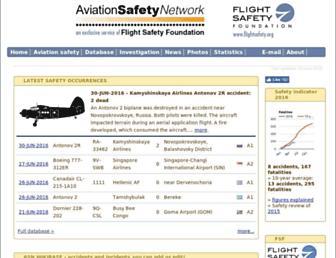 aviation-safety.net screenshot