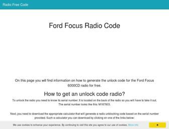 radiofreecode.com screenshot