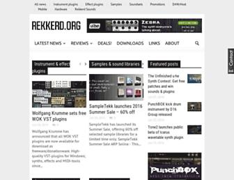 Main page screenshot of rekkerd.org