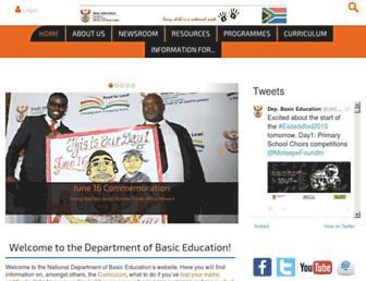 Thumbshot of Education.gov.za