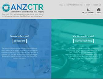 anzctr.org.au screenshot